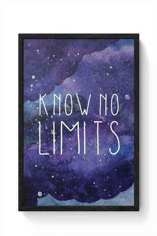Framed Posters Online India | Know No Limits Framed Poster Online India