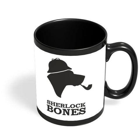 Sherlock Bones Black Coffee Mug Online India