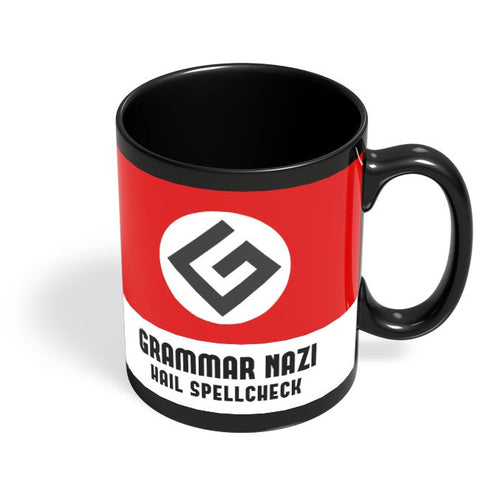 Grammar Nazi Black Coffee Mug Online India