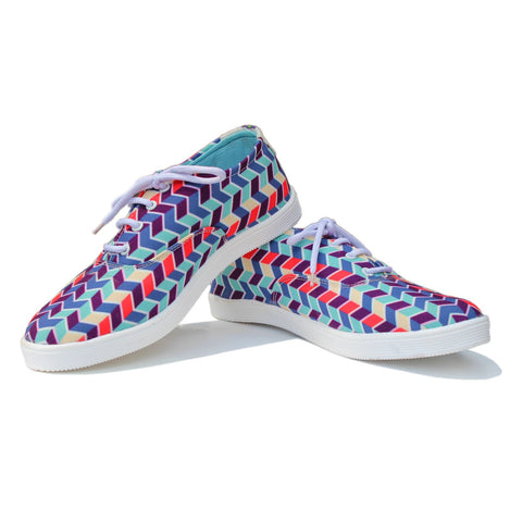 Canvas Shoes India | Aztec Warrior Pattern lace ups  Online India.