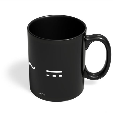 Coffee Mugs Online | Ac/Dc Black Coffee Mug Online India