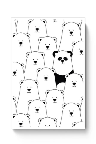 Posters Online | Be Different - Panda Poster Online India | Designed by: MonkeyMan