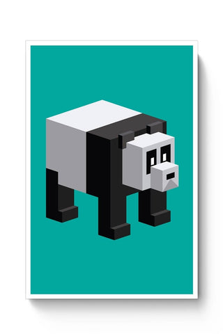Posters Online | Cube Panda Poster Online India | Designed by: MonkeyMan