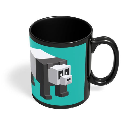 Coffee Mugs Online | Cube Panda Black Coffee Mug Online India
