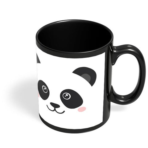 Coffee Mugs Online | Cute Panda Face Black Coffee Mug Online India