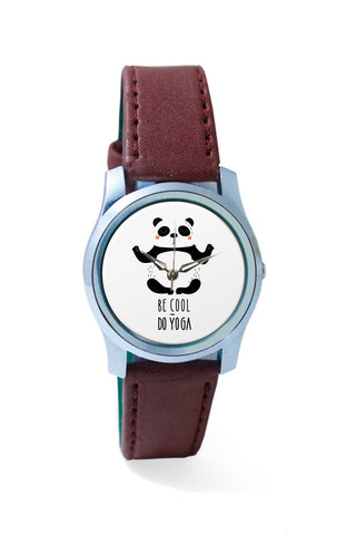 Women Wrist Watch India | Be Cool, Do Yoga - Panda Wrist Watch Online India