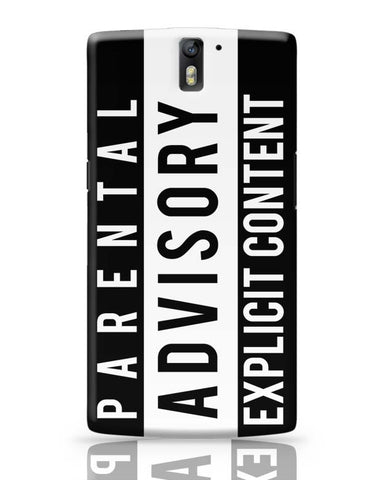 OnePlus One Covers | Parental Advisory OnePlus One Case Cover Online India