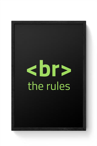 <Br> The Rules Framed Poster Online India