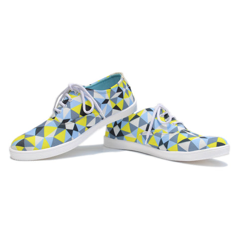 Canvas Shoes India | Hipster Illusion Diamond Pattern Laceups  Online India.
