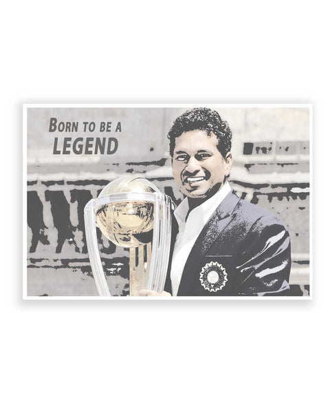 Buy Sports Posters Online | Legends Are Born   Sachin Tendulkar Poster | PosterGuy.in