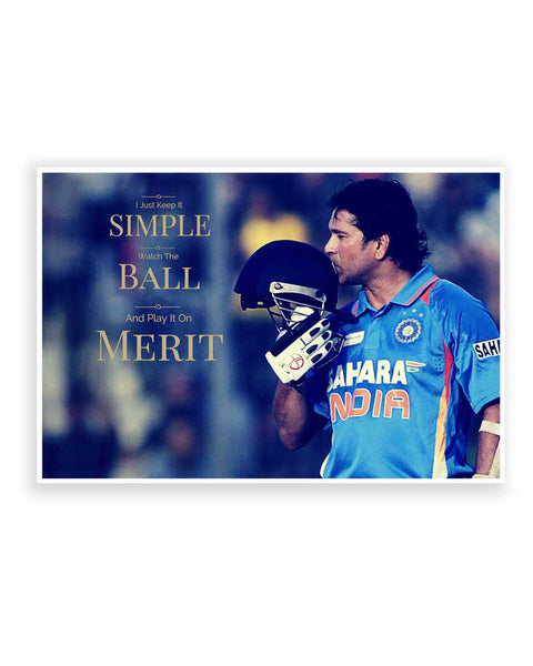 Buy Sports Posters Online | Sachin Tendulkar Quote Poster | PosterGuy.in