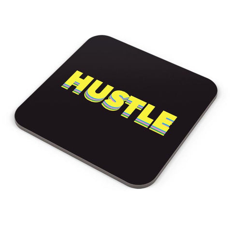 Hustle Motivational Typography Coaster Online India