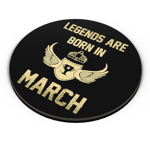 Legends Are Born In March Birthday Gift for Him Fridge Magnet Online India