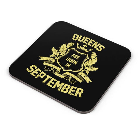 Queens Are Born In September | Birthday Gifts for Girls/Ladies Coaster Online India