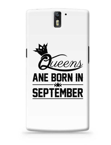 Queen are born in september OnePlus One Covers Cases Online India