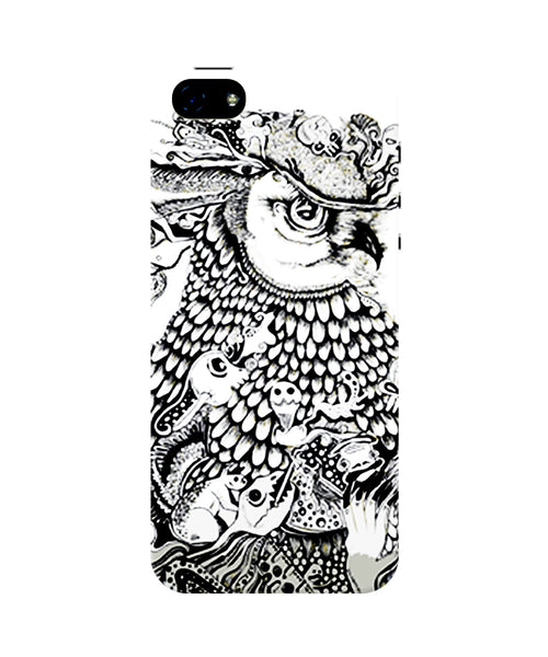 Line Art Owl iPhone 5 / 5S Case