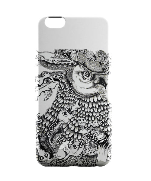 iPhone 6 Case & iPhone 6S Case | Line Art Owl iPhone 6 | iPhone 6S Case Online India | PosterGuy