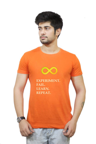 Buy Funny T-Shirts Online India | Experiment Fail Learn Repeat T-Shirt Funky, Cool, T-Shirts | PosterGuy.in