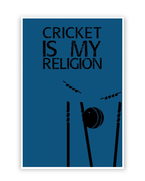 Buy Sports Posters Online | Cricket is My Religion Poster | PosterGuy.in