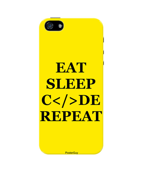 Eat Sleep Code Repeat Motivational iPhone 5 / 5S Case