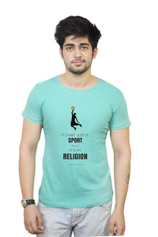Buy Funny T-Shirts Online India | Basketball Is Not A Sport But Religion T-Shirt Funky, Cool, T-Shirts | PosterGuy.in
