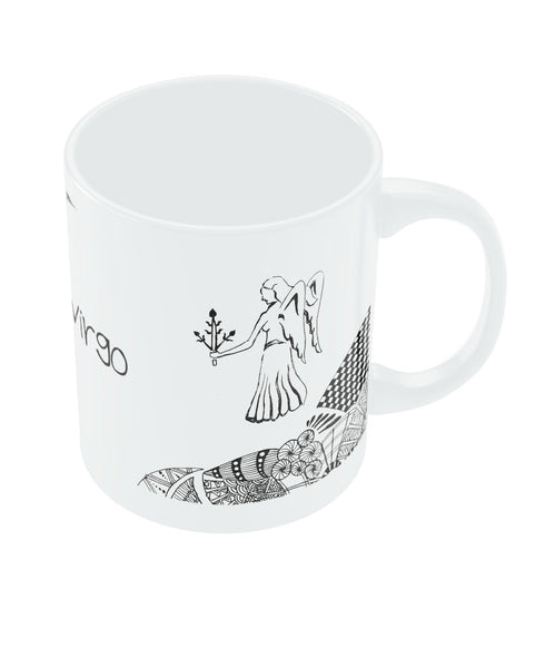 Virgo Zodiac Sign White Coffee Mugs
