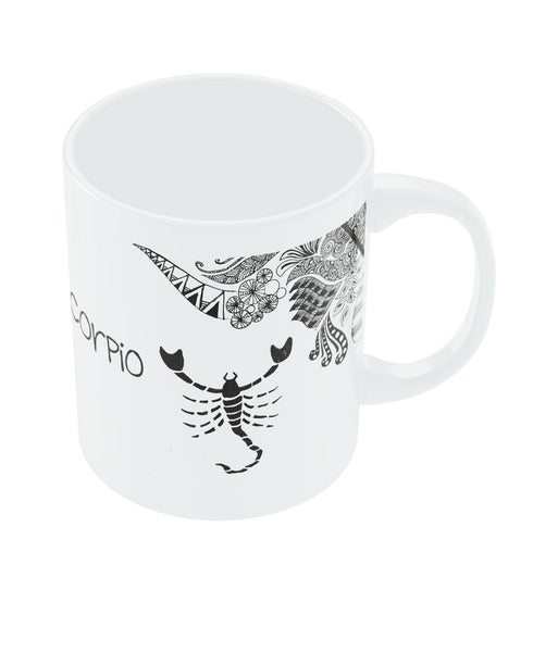 Scorpio Zodiac Sign White Coffee Mugs