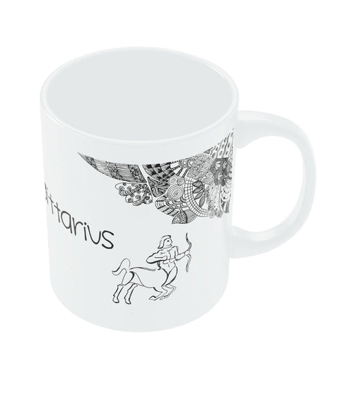 Sagitarius Zodiac Sign White Coffee Mugs