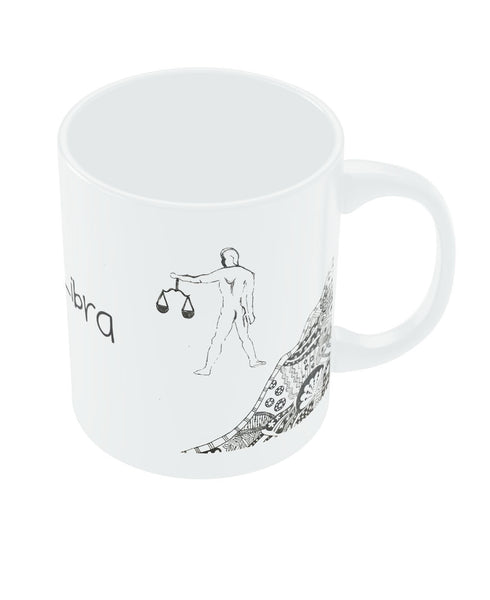Libra Zodiac Sign White Coffee Mugs