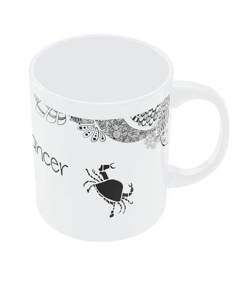 Cancer Zodiac Sign White Coffee Mugs