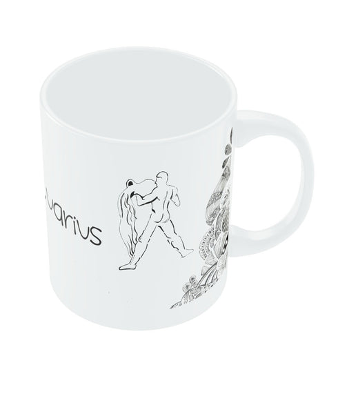 Aquarious Zodiac Sign White Coffee Mugs
