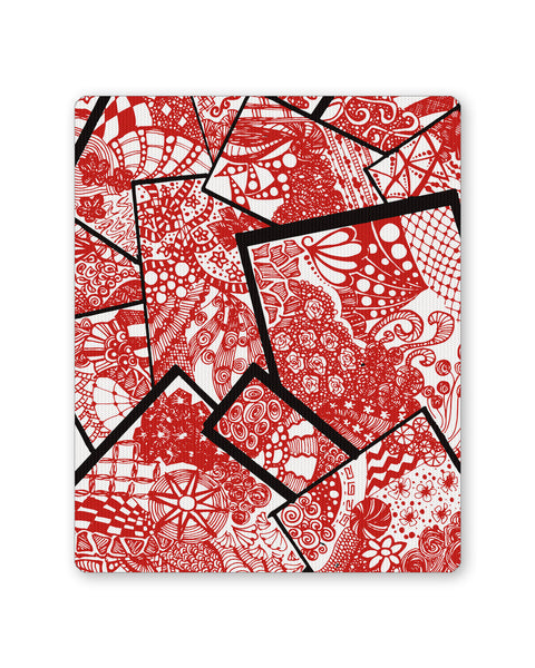 Mouse Pads | Cute Line Art Doodle Red  Mouse Pad Online India | PosterGuy.in