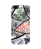 Cute Line Art Doodle Black, Red and Green iPhone 5/5S Case by Stuti 2