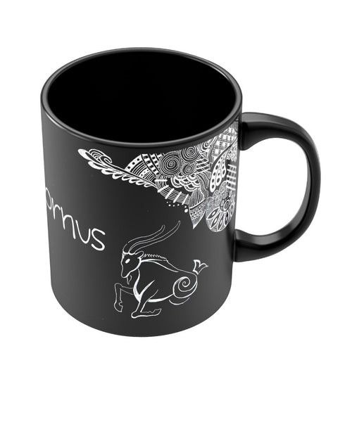 Capricorn Zodiac Sign Black Coffee Mugs