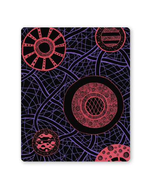 Mouse Pads | Circle of Dreams Illustration Blue Mouse Pad Online India | PosterGuy.in