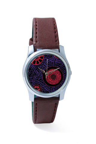 Women Wrist Watches India | Circle of Dreams Illustration Blue Wrist Watch Online India