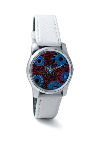 Women Wrist Watches India | Circle of Dreams Illustration Red Wrist Watch Online India