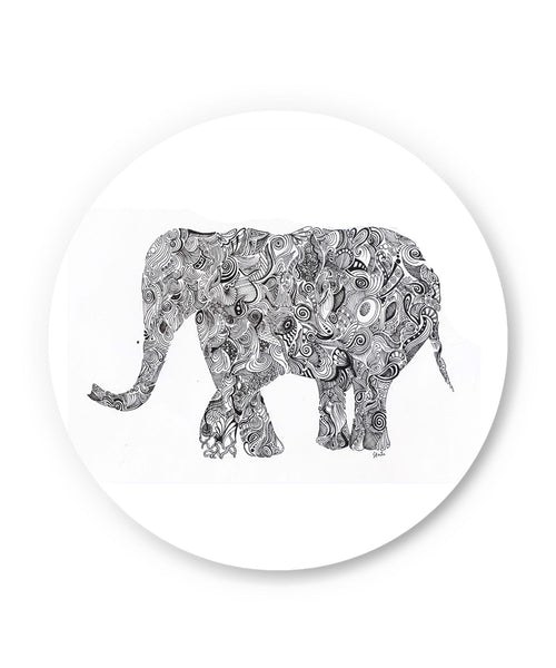 Elephant Line Art Sketch Fridge Magnet Online India