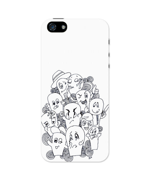 Funny Faces Graphic Illustration iPhone 5 / 5S Case