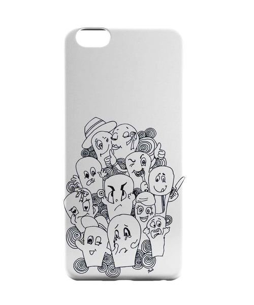 iPhone 6 Case & iPhone 6S Case | Funny Faces Graphic Illustration iPhone 6 | iPhone 6S Case Online India | PosterGuy