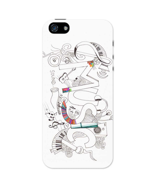 iPhone 5 / 5S Cases| Music Is My Life Illustration iPhone 5 / 5S Case 1103164517 Online India