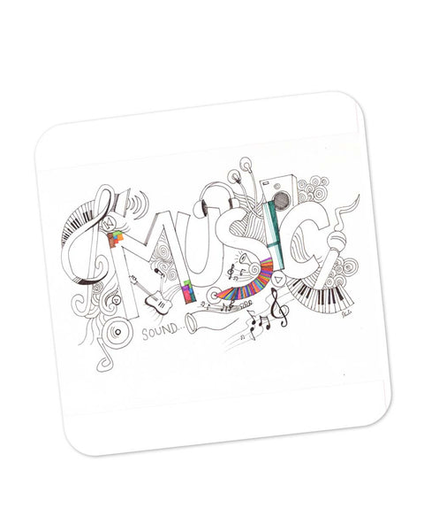Coasters | Music Is My Life Illustration Coaster 1103164529 Online India | PosterGuy.in