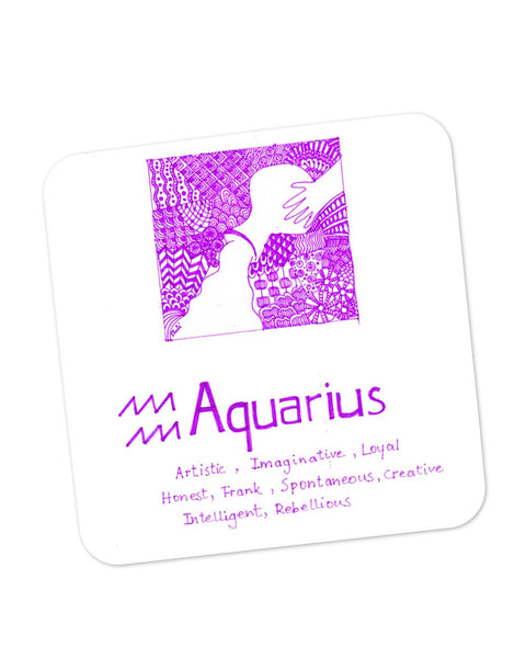 Coasters | Aquarius| Zodiac Sign Gifts Coaster 1103334529 Online India | PosterGuy.in