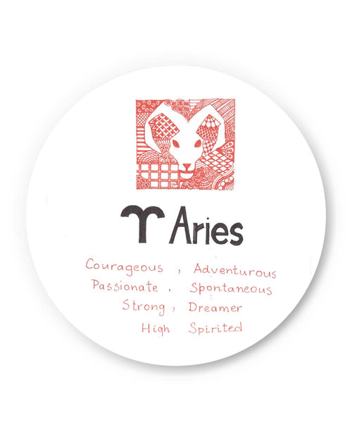 PosterGuy | Aries| Zodiac Sign Gifts Fridge Magnet 1103344519 Online India