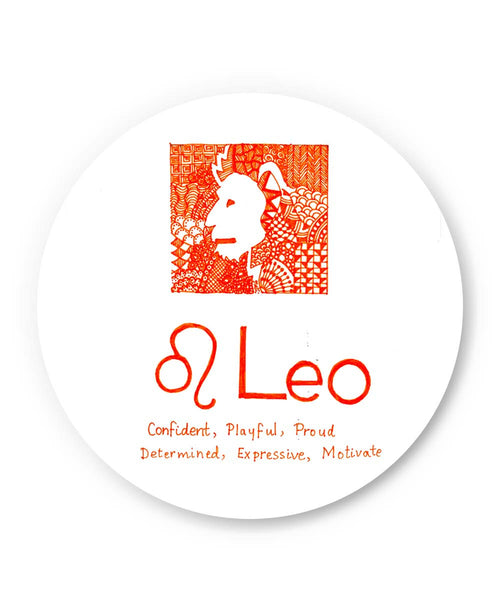 PosterGuy | Leo| Zodiac Sign Gifts Fridge Magnet 1103384519 Online India