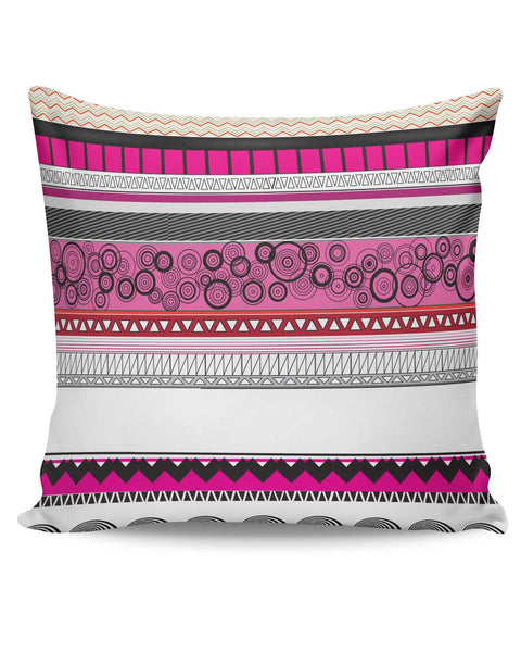 PosterGuy | Geomtrical Art (Pink) Pattern Cushion Cover Online India