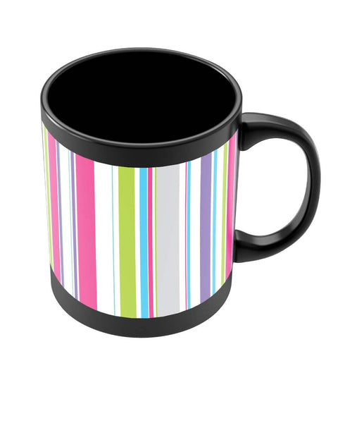 Coffee Mugs Online | Abstract Stripes Black Coffee Mug Online India