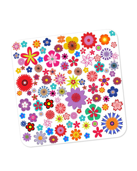 Buy Coasters Online | Floral Pattern Illustration Coaster Online India | PosterGuy.in