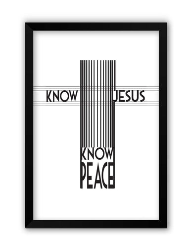 Framed Posters | Know Jesus Know Peace Laminated Framed Poster Online India