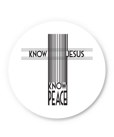PosterGuy | Know Jesus Know Peace Fridge Magnet Online India by Stuti Bajaj
